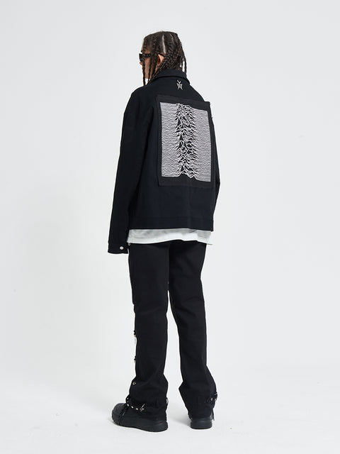 Joy Division Unknown Pleasures Field Jacket - 'I Don't Smoke' Donsmoke Streetwear