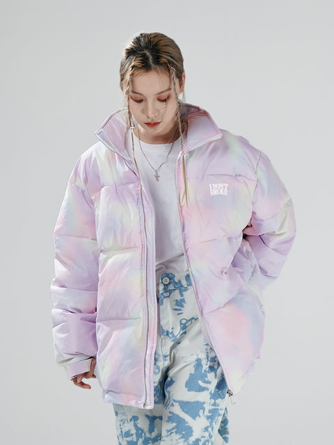 Cotton Candy Down Puffer - 'I Don't Smoke' Donsmoke Streetwear