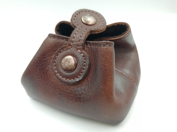 Handmade Real Leather Dice Pouch - Tanned