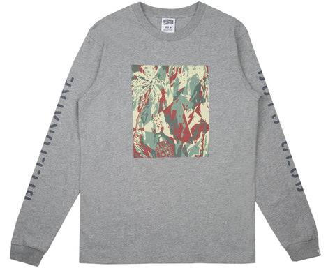 Billionaire Boys Club Pre-Fall '18 LIZARD CAMO TILE L/S T-SHIRT - HEATHER GREY