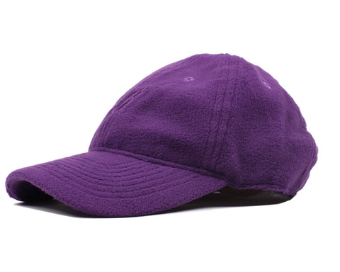 Billionaire Boys Club POLAR FLEECE CURVED VISOR 6-PANEL CAP - PURPLE