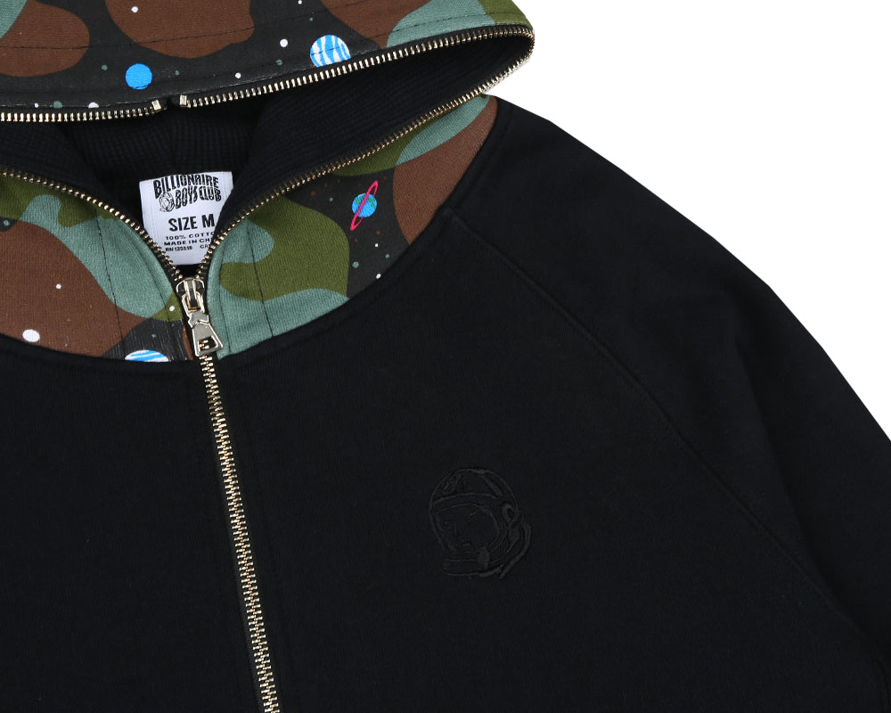 Billionaire Boys Club Pre-Spring '18 SPACE CAMO THERMAL HOOD - BLACK