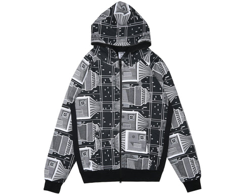 Billionaire Boys Club Pre-Spring '18 SKYSCRAPER THERMAL FULL-ZIP HOOD - BLACK