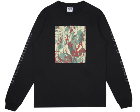Billionaire Boys Club Pre-Fall '18 LIZARD CAMO TILE L/S T-SHIRT - BLACK
