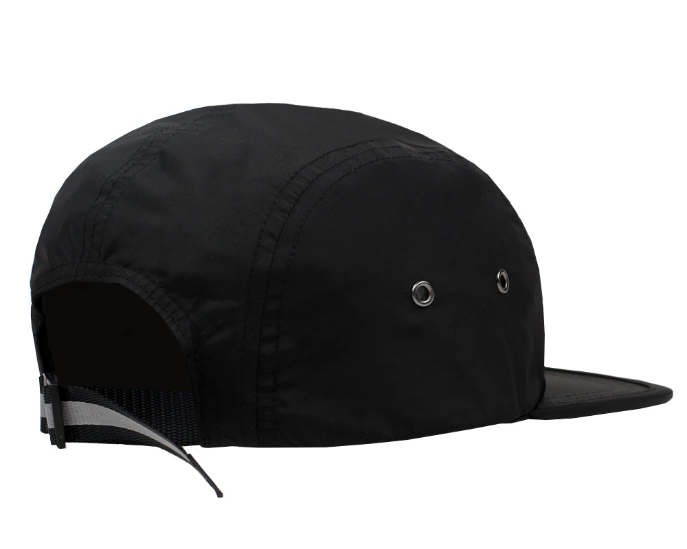 REFLECTIVE LOGO NYLON CAP - BLACK