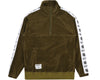 Billionaire Boys Club Japan Spring '19 VELOUR 1/2 ZIP TRACK TOP - OLIVE