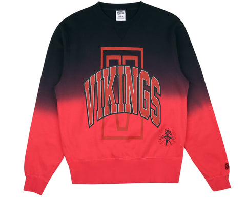 Billionaire Boys Club Fall '18 VIKINGS DIP DYE CREWNECK - RED