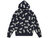 Billionaire Boys Club Fall '17 REPEAT PRINT POPOVER HOOD DRESS BLUE