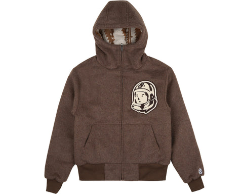 Billionaire Boys Club Spring '19 REVERSIBLE WOOL ZIP HOOD - BROWN