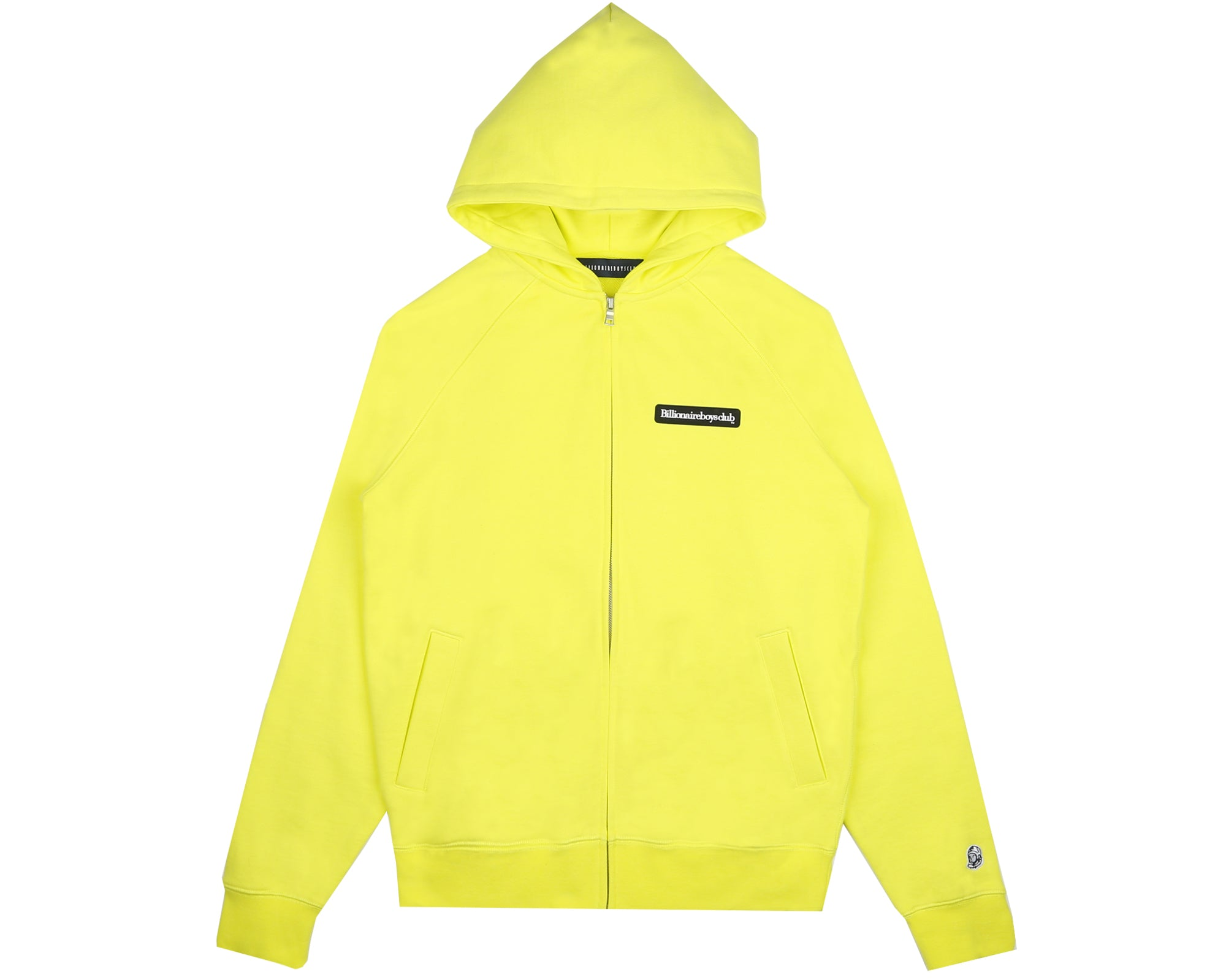 RUBBERISED LOGO ZIP THROUGH HOOD - YELLOW