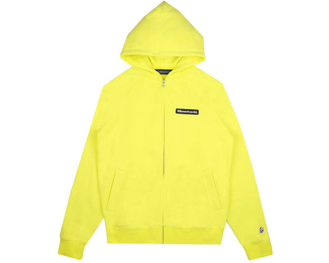 Billionaire Boys Club Pre-Fall '19 RUBBERISED LOGO ZIP THROUGH HOOD - YELLOW