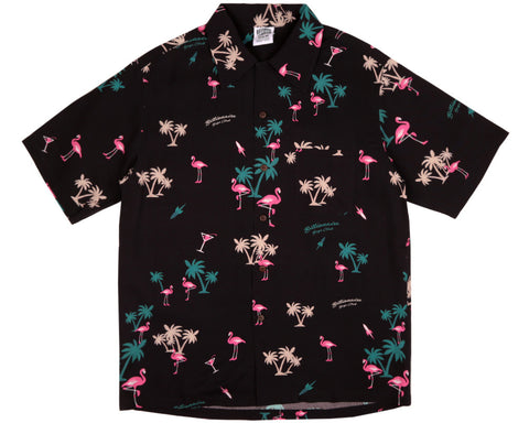 Billionaire Boys Club Pre-Fall '17 PARADISE ALL OVER PRINT S/S SHIRT - BLACK
