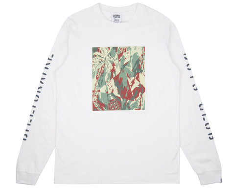 Billionaire Boys Club Pre-Fall '18 LIZARD CAMO TILE L/S T-SHIRT - WHITE