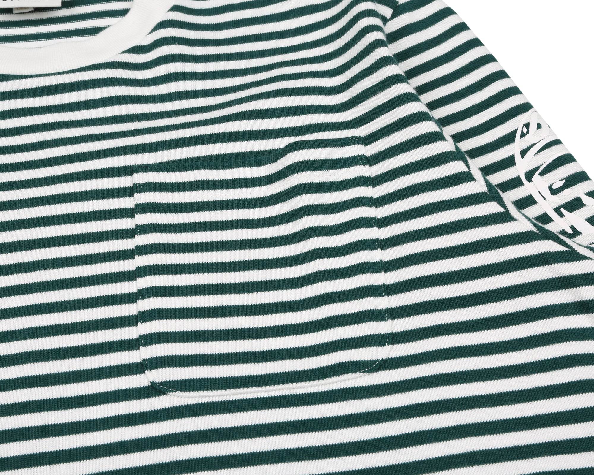 SMALL STRIPE L/S T-SHIRT - GREEN/WHITE
