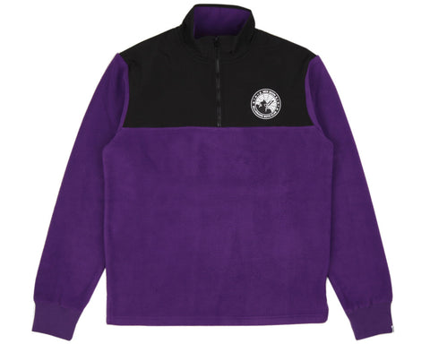 Billionaire Boys Club HALF-ZIP FUNNEL SWEATSHIRT - PURPLE/BLACK