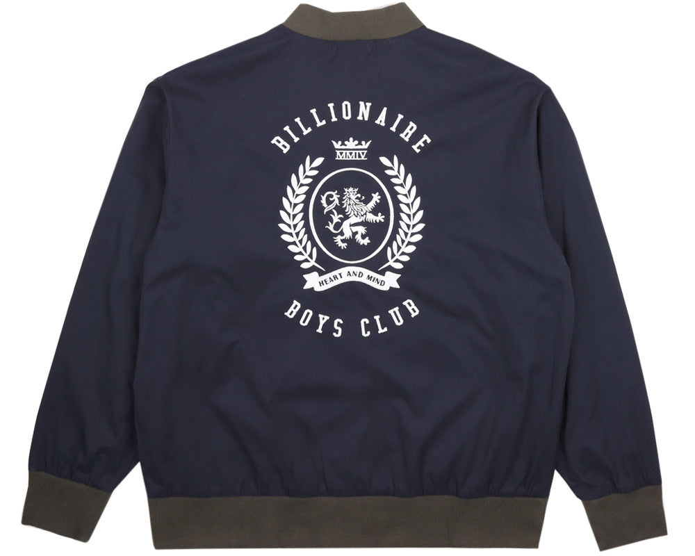 Billionaire Boys Club Pre-Spring '17 ALUMNI COTTON VARSITY JACKET - NAVY