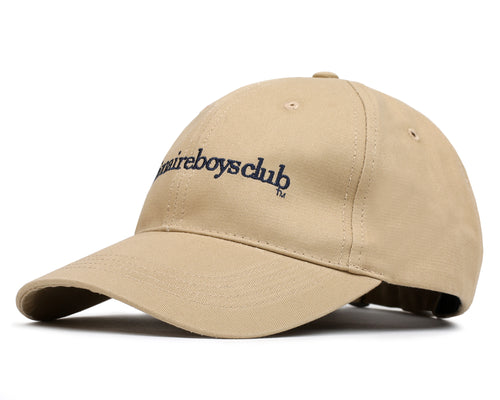 EMBROIDERED CURVE VISOR CAP - SAND