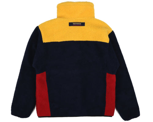 COLOUR BLOCK FLEECE - NAVY