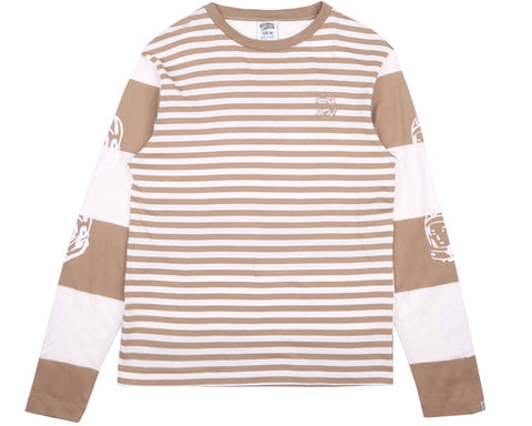 Billionaire Boys Club Fall '17 STRIPE L/S T-SHIRT - WHITE