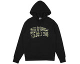 BBCICECREAM CAMO ARCH POP-OVER HOOD - BLACK