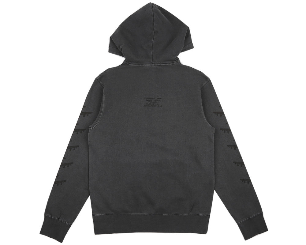 Billionaire Boys Club Spring '17 COMMANDER OVERDYED HOODED SWEAT - CHARCOAL