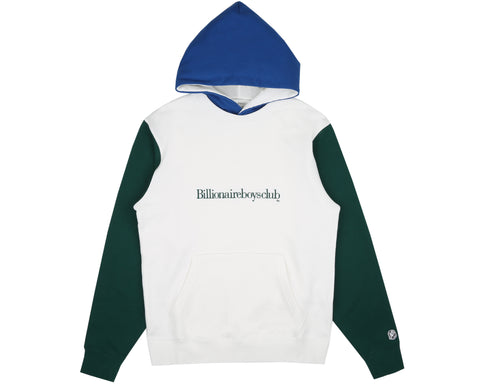 Billionaire Boys Club Spring '19 COLOUR BLOCK POPOVER HOOD - WHITE