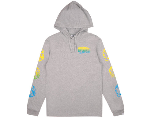 Billionaire Boys Club Pre-Fall '17 HELMET PRINT HOODED L/S T SHIRT - HEATHER GREY