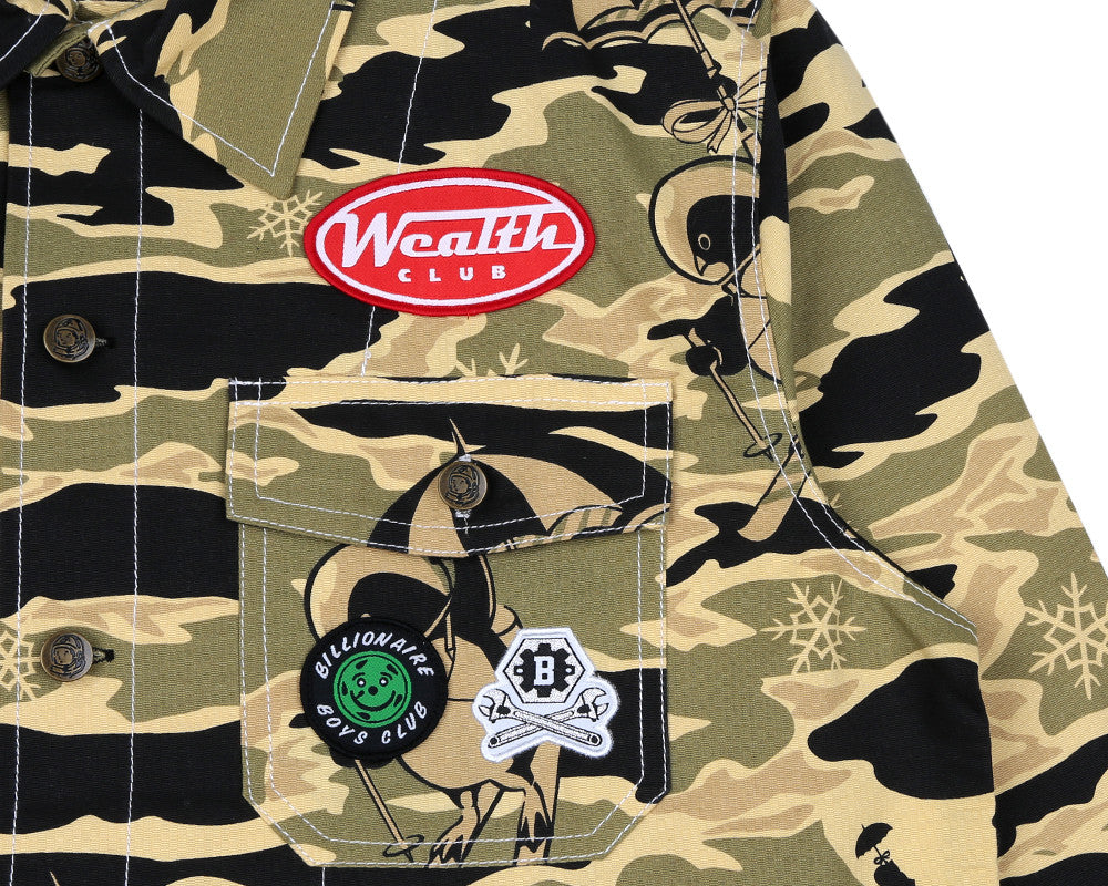 Billionaire Boys Club Pre-Spring '17 MECHANICS WORK SHIRT - CAMO