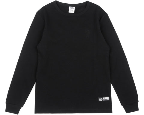 Billionaire Boys Club Fall '17 WAFFLE KNIT L/S T-SHIRT - BLACK