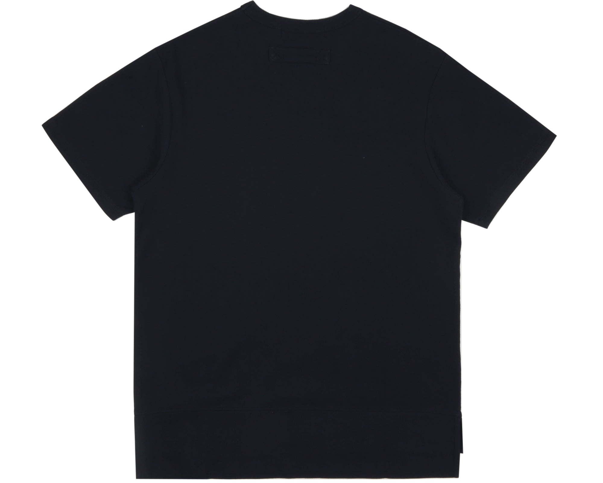 HEAVY PIQUE COTTON T-SHIRT - NAVY