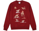 BBCICECREAM SPACE HUNT ICONS CREWNECK - BURGUNDY