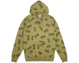 Billionaire Boys Club Fall '17 REPEAT PRINT POPOVER HOOD OLIVE