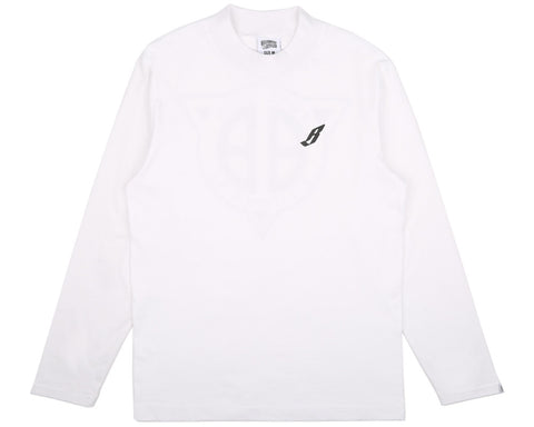 BBCICECREAM FLYING B L/S TURTLE NECK T-SHIRT - WHITE