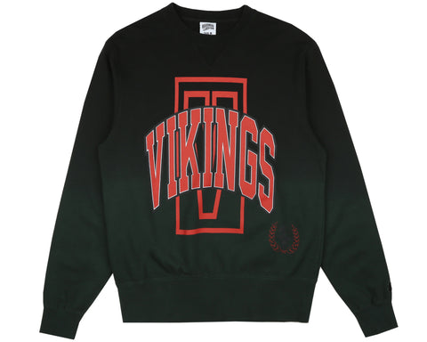 Billionaire Boys Club Fall '18 VIKINGS DIP DYE CREWNECK - FOREST GREEN