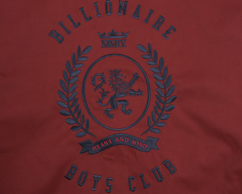 Billionaire Boys Club Pre-Spring '17 ALUMNI COTTON VARSITY JACKET - BURGUNDY