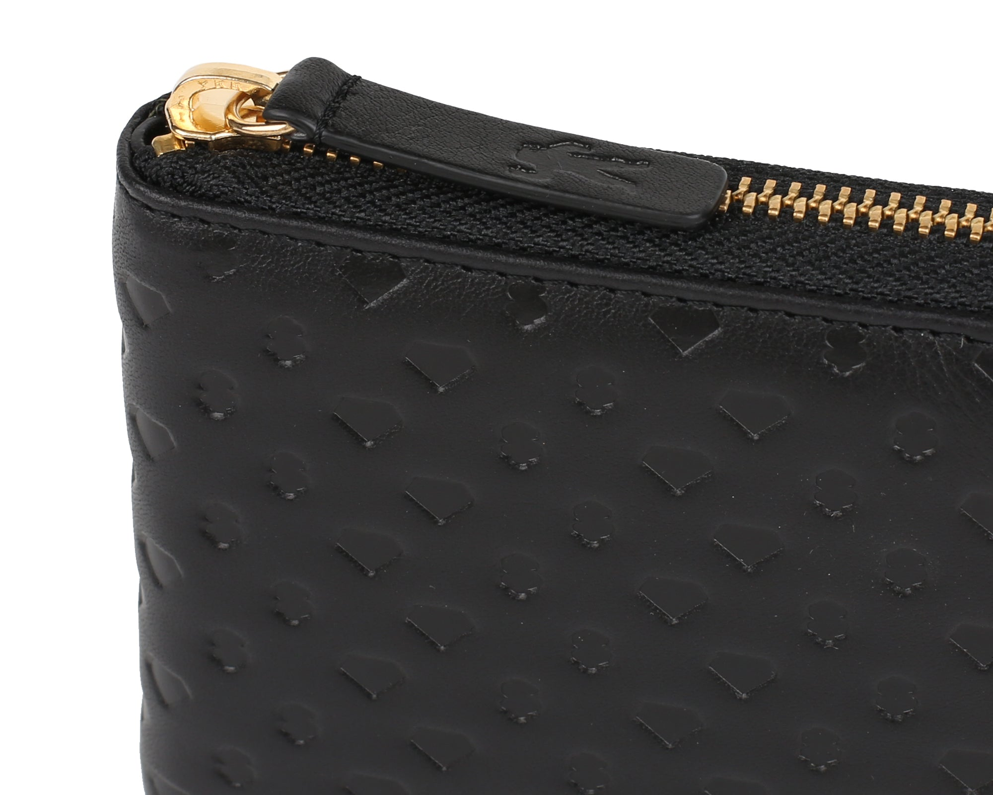 DIAMONDS & DOLLARS LEATHER WALLET - BLACK
