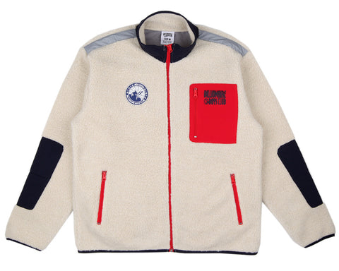 Billionaire Boys Club SHERPA FLEECE ZIP-THROUGH - BEIGE