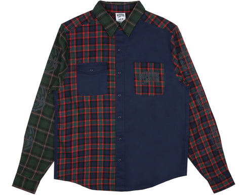 Billionaire Boys Club Fall '18 CUT & SEW CHECK SHIRT - NAVY