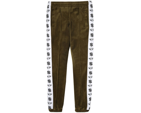 Billionaire Boys Club Japan Spring '19 VELOUR TRACK PANTS - OLIVE