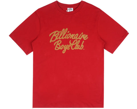 Billionaire Boys Club Fall '17 FLOCK SCRIPT LOGO T-SHIRT RED