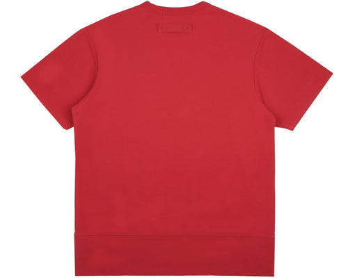 HEAVY PIQUE COTTON T-SHIRT - RED
