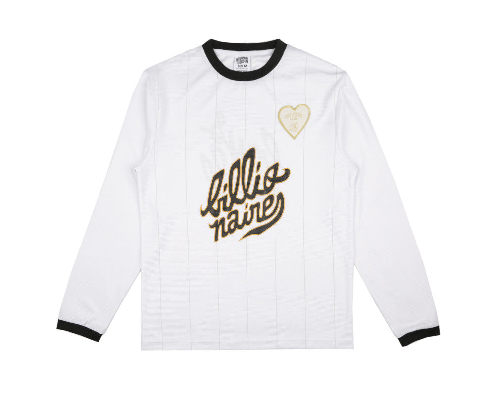 Billionaire Boys Club Spring '17 TEAM L/S SOCCER JERSEY - WHITE
