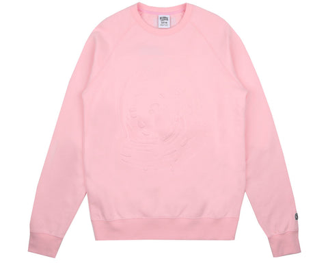 Billionaire Boys Club Fall '17 EMBOSSED LOGO CREWNECK - PINK