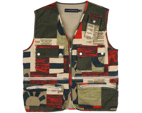 Billionaire Boys Club Pre-Fall '19 FRESH WATER PRINT COTTON VEST - TAN