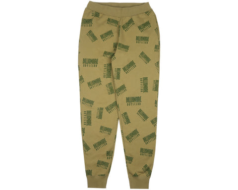 Billionaire Boys Club Fall '17 REPEAT PRINT SWEATPANT OLIVE