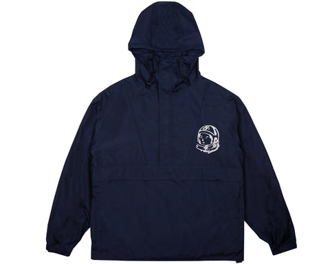 Billionaire Boys Club Spring '18 NYLON HOODED 1/4 ZIP JACKET - NAVY