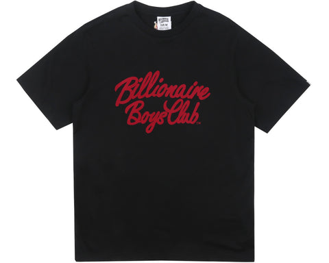 Billionaire Boys Club Fall '17 FLOCK SCRIPT LOGO T-SHIRT BLACK