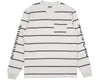 Billionaire Boys Club Pre-Spring '19 STRIPED L/S POCKET T-SHIRT - WHITE MARL