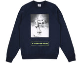 Billionaire Boys Club Pre-Spring '18 TECHNICIAN CHECKS CREWNECK - NAVY
