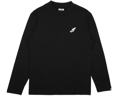 BBCICECREAM FLYING B L/S TURTLE NECK T-SHIRT - BLACK